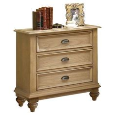 Give a classy and sophisticated look to your bedroom with the Lexington Monterey Sands Berkeley 2 Drawer Nightstand. Thanks to the wood construction, this nightstand is amazingly sturdy and long lasting. The elegant Lexington Monterey Sands Berkeley 2 Drawer Nightstand from Lexington features a light brown finish that adds class and style, and is perfect for traditional home interior decors. You can store all your important items in the two drawers. The exterior shelf and top space allows…