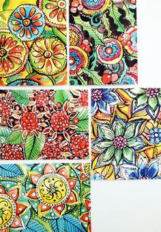 Alisa Burke — holiday doodles- flat notecard