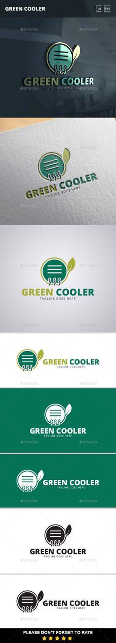 Green Cooler Logo Template