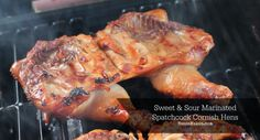 #ad sweet sour marinated spatchcock cornish hen