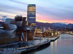 Basque Country, Bizkaia, Bilbao, Guggenheim Museum & Iberdrola Tower
