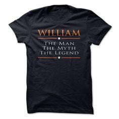William - The man - The Myth - The Legend. If you are William or loved one. Then this is perfect T-Shirt for you. ** If you dont like this Tshirt, please use the Search Bar on the top right corner to find the best one for you. Simply type the key **