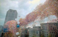 Vypustene balonky v Clevelandu