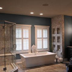 contemporary bathroom by Weaver Custom Homes... this is my main image and color scheme of what I want our new bathroom to look like