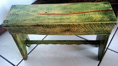 Banquinho Verde aquarela #GATOMALOKO