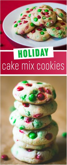 holiday cake mix cookies these are the easiest and prettiest christmas cookies on pinterest