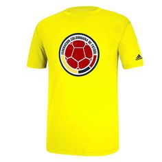 Colombia adidas Futbol Crest T-Shirt - Yellow - $18.99