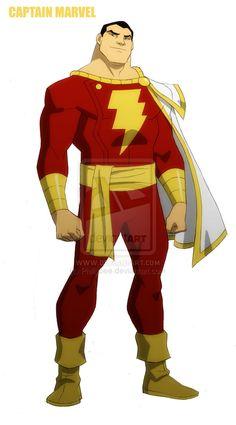 YOUNG JUSTICE: Captain Marvel by philbourassa.deviantart.com on @deviantART