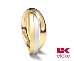 Alianza de oro blanco, amarillo y rojo de 18K modelo Trío rojo Ref.: 750TRI30RTRIO Oro blanco, amarillo y rojo de 18K modelo Trío rojo superficie fijo (marcado por el modelo) calibre 3,0 mm #bodas #alianzas #novia