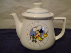 Vintage Gourmet Mickey Teapot By Treasure Craft Made in the USA on Etsy, $30.00