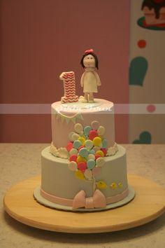 first birthday cake, ilk yaş pastası, butik pasta, doğum günü pastası, balonlu pasta