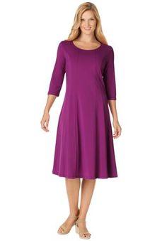 Plus Size Dress sheath in a silky fabric