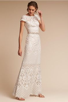 Hippie chic lace dress – it combines refinement and spirit of freedom - Mode et Beaute Bhldn Wedding Dress, Wedding Dress Styles, Dream Wedding Dresses, Wedding Gowns, Bridal Gown, Wedding Ceremony, Pippa Middleton Wedding Dress, Vetement Hippie Chic, Mode Hippie
