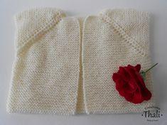 Modèle Top Down pour bébé, facile à tricoter sans couture avec 2 pelotes. Tuto gratuit 5 tailles.