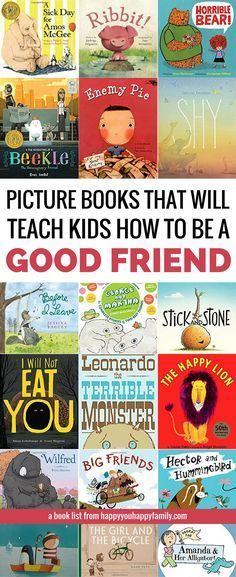 These children's books will teach your kids how to be a good friend and how to deal with friendship problems. Perfect for toddlers, preschoolers, and older kids too. But the BEST part about this list of picture books about friendship? Best Children Books, My Children, Childrens Books, Best Books For Toddlers, Good Kids Books, Kids Picture Books, Best Toddler Books, Children Songs, Gentle Parenting