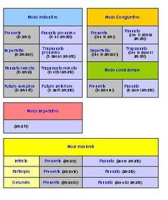 Uno schema per le forme verbali :: O.S.D. Genova e Tigullio