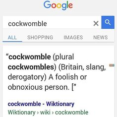 When someone you're sharing fandoms with calls your fave character a cockwomble and you take offense.  #DidntMeanWhatIThoughtItMeant #OtherwiseThemFightingWordsBuddyFightingWords #SoScaredToGoogleButNeededToKnowIfHandsNeededToBeThrown #TheyDidnt #CarryOn #LearnSomethingNewEveryday #Cockwomble