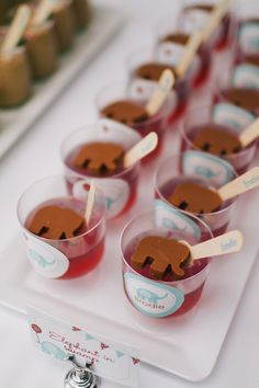 Treats from a Red and aqua elephant birthday party #elephant #partyfood