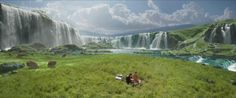 waterfall landscape from attack of the clones - Google Search