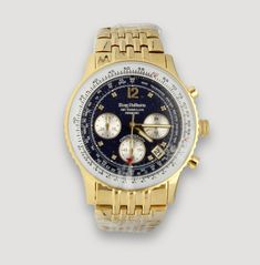 Krug-Baümen, Air Traveller Diamond , Brand new wristwatch Shop Price, Gold Watch, Chronograph, Pocket Watch, Plating, Calendar, Diamonds, Quartz, Brand New