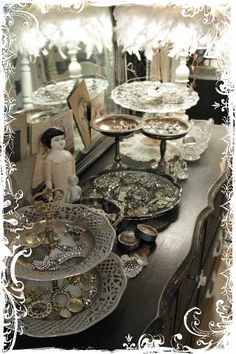 Fabulous way to display jewelry, buttons or rhinestone treasures