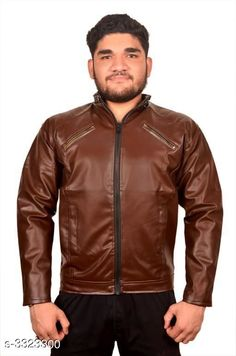 Jackets Trendy Men's PU Leather Jacket Fabric: PU Leather Sleeves: Full Sleeves Are Included Size:  M  L XLXXL  (Refer Size Chart) Length: Refer Size Chart Type: Stitched Description: It Has 1 Piece of Men's Jacket Pattern: Solid Country of Origin: India Sizes Available: XXS, XS, S, M, L, XL, XXL *Proof of Safe Delivery! Click to know on Safety Standards of Delivery Partners- https://ltl.sh/y_nZrAV3  Catalog Rating: ★3.9 (3194)  Catalog Name: Elegant Men's PU Leather Jackets Vol 4 CatalogID_459837 C70-SC1209 Code: 435-3323300-