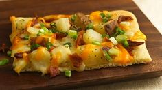 Baked Potato Pizza -  I've made this one!  It rocks but is full of carbs.  Joe loved it.