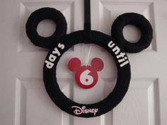 Disney Countdown Calender  @Jennifer Kelly  you guys could get so much use out of this thing!