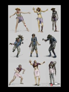 Dead Island Concept Art by Artur Sadlos, via Behance Zombie Pose, Zombie Art, Fallout Concept Art, Robot Concept Art, Zombie Drawings, Zombie Monster, Apocalypse Art, Concept Art World, Smart Art