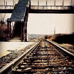 Sepia Train Station Abstract Surreal Photograph Rustic Fine Art Print 5x5