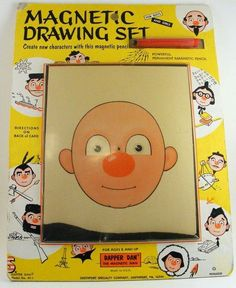 Magnetic Drawing Set- my dad hated these toys I would just throw away he said, I'd never play with them. But I wanted it sooooo bad