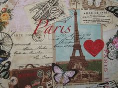 """TIMELESS TREASURE """"PARIS VINTAGE """" BY THE  YARD-Free Shipping"""