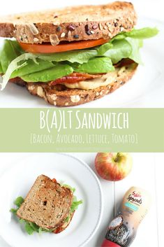 BALT - Bacon, Avocado, Lettuce, Tomato Sandwich via RDelicious Kitchen @RD_Kitchen