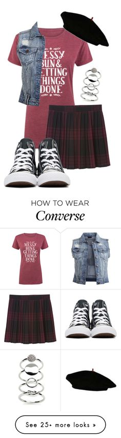 """""""the french mistake"""" by deliag on Polyvore featuring Kaari Blue, Monki, Converse and Vila Milano Outfits With Converse, Monki, Classic Looks, Romwe, Indie, Cool Outfits, Dreams, French, Clothing"""
