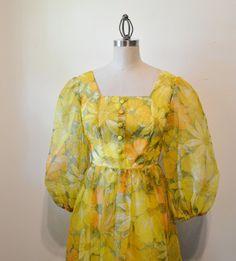 Vintage Maxi Dress Late 60's Hippie Dress Prairie by EadoVintage, $55.00