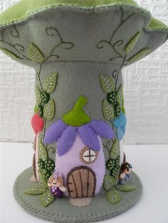 fairy avenue felt pincushion - stitching embroidery how to DIY project design template pattern handmade sewing craft idea