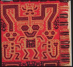 Mantle Fragment Date: 5th–3rd century BCE Geography: Peru Culture: Paracas Medium: Camelid hair, cotton Accession Number: 32.32.26