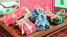 Recycled Holiday Card Treat Boxes- a fun way to recycle holiday cards