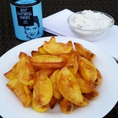 "Finally dinner   Potato wedges with herb quark   I seasoned the potatoes with the fried potatoes seasoned salt from @justspices"" Photo taken by @claudiaweissmann on Instagram, pinned via the InstaPin iOS App! http://www.instapinapp.com (09/29/2015)"
