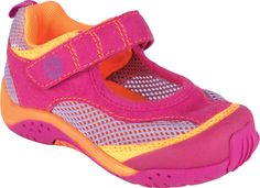 pediped water-safe Darcy Fuchsia Orange! Outdoor shoes for kids!