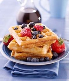 Classic Gluten Free Waffle Recipe - Learn to make them light and crisp: http://glutenfreerecipebox.com/gluten-free-waffle-recipe/ #glutenfree
