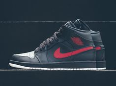 d741c2348dc Air Jordan 1 Mid Anthracite Gym Red 554724-045 - Sneaker Bar Detroit  Sneakers Fashion