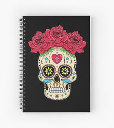 Sugar Skull With Roses by James Allmon