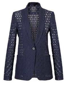 """T-Jacket SS 2016 single-breasted """"Geometric Lace"""". Discover the new collection on www.tonello.net"""