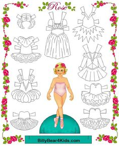 Ballet Paper Doll With Colorable Clothes