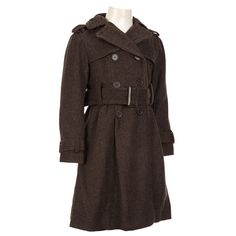 Belted Wool-Blend Peacoat (4-6x)