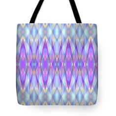 Blue Diamond Prism Pattern Tote Bag by Expressionistart studio Priscilla Batzell.  The tote bag is machine washable, available in three different sizes, and includes a black strap for easy carrying on your shoulder.  All totes are available for worldwide shipping and include a money-back guarantee.