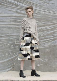 Knit Loves - Crochet Trousers. @woolandthegang, pom poms and croceht skirt