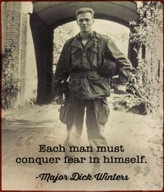 A solid post on the disciplines and diligence Major Dick Winters was committed to. A GREAT read!