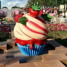 Strawberry shortcake (or cupcake?) sculpture